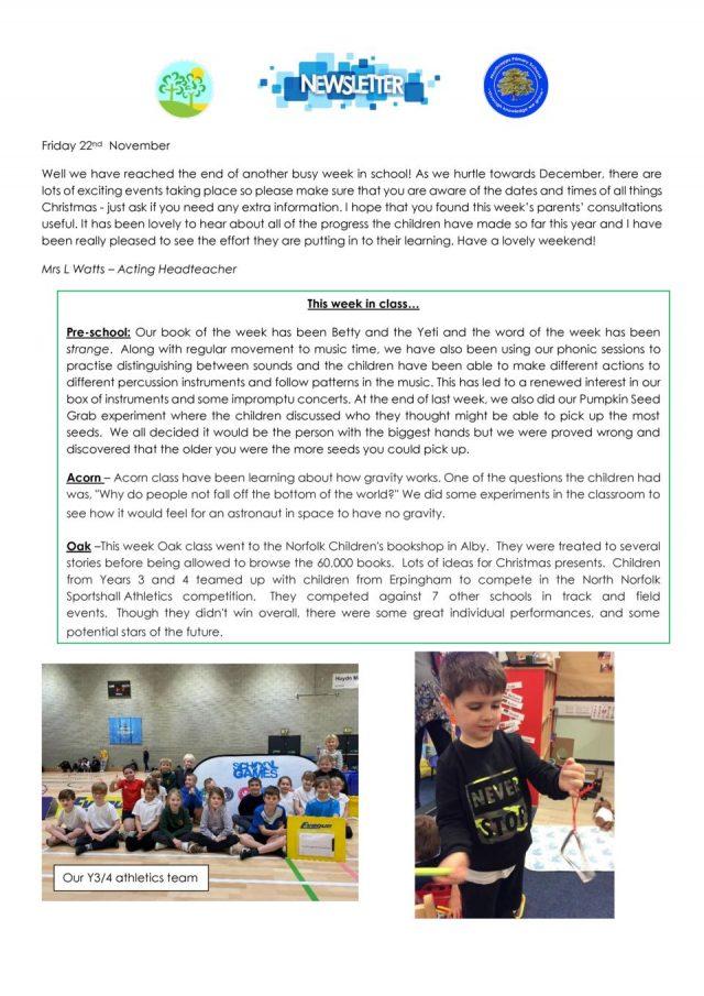 thumbnail of NPS newsletter 29.11.19