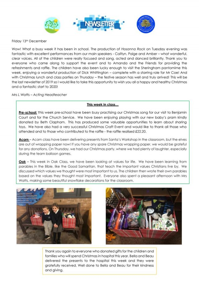 thumbnail of NPS newsletter 13.12.19